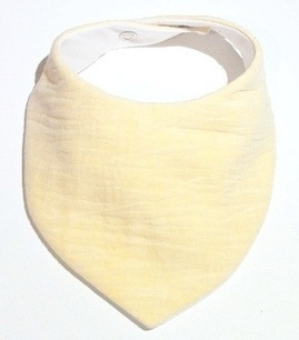 Baby Yellow Muslin Bib