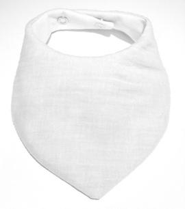 White Muslin Bib