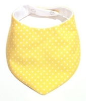 White on Yellow Polka Dot
