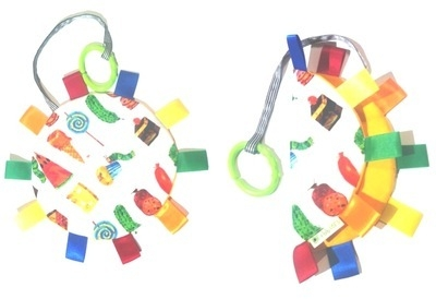 Colourful Hungry Caterpillar Tabby Toy