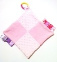 Pink Squares Tabby Sensory Blanket