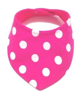Hot Pink & White Large Polka Dot