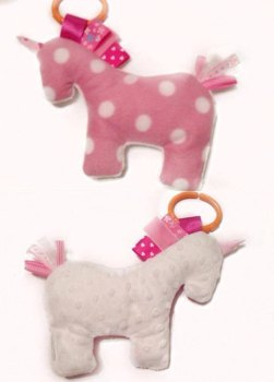 Baby Pink Unicorn Tabby Sensory Toy
