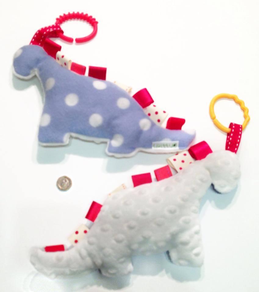 Blue Dino Tabby Sensory Toy