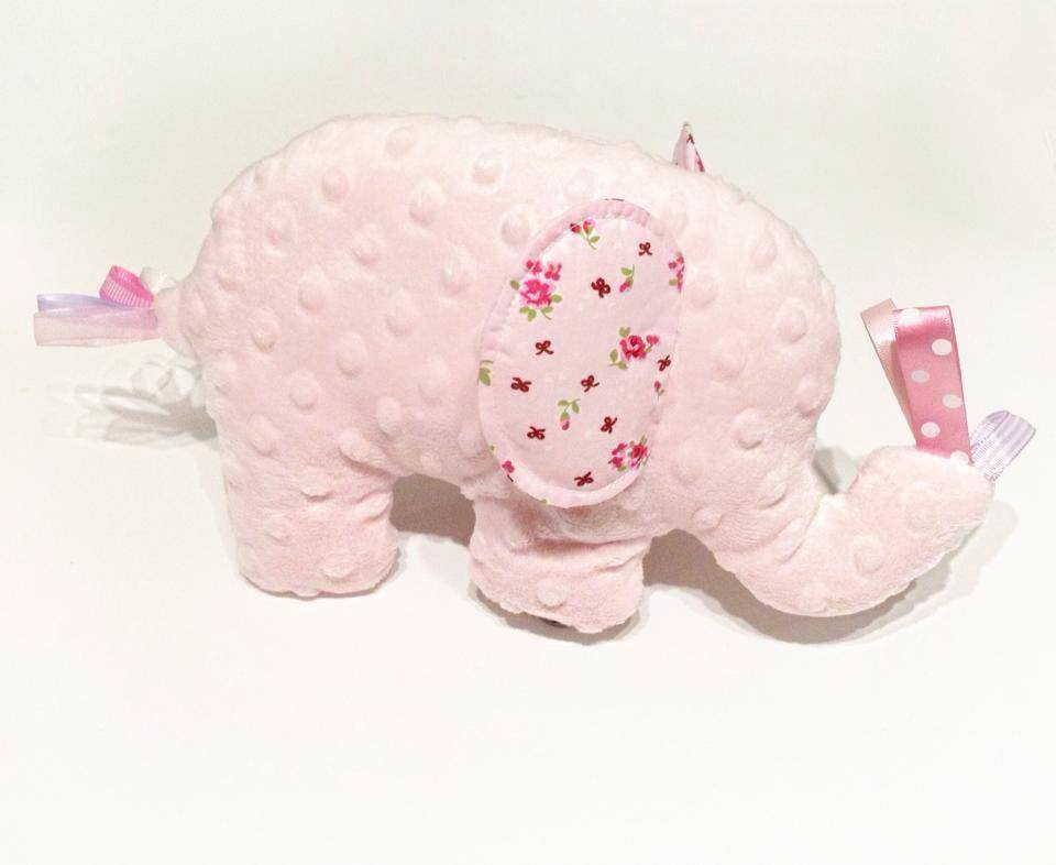 Baby Pink Elephant Tabby Sensory Toy
