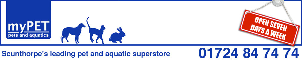 Mypet, pet and aquatics scunthorpe, site logo.