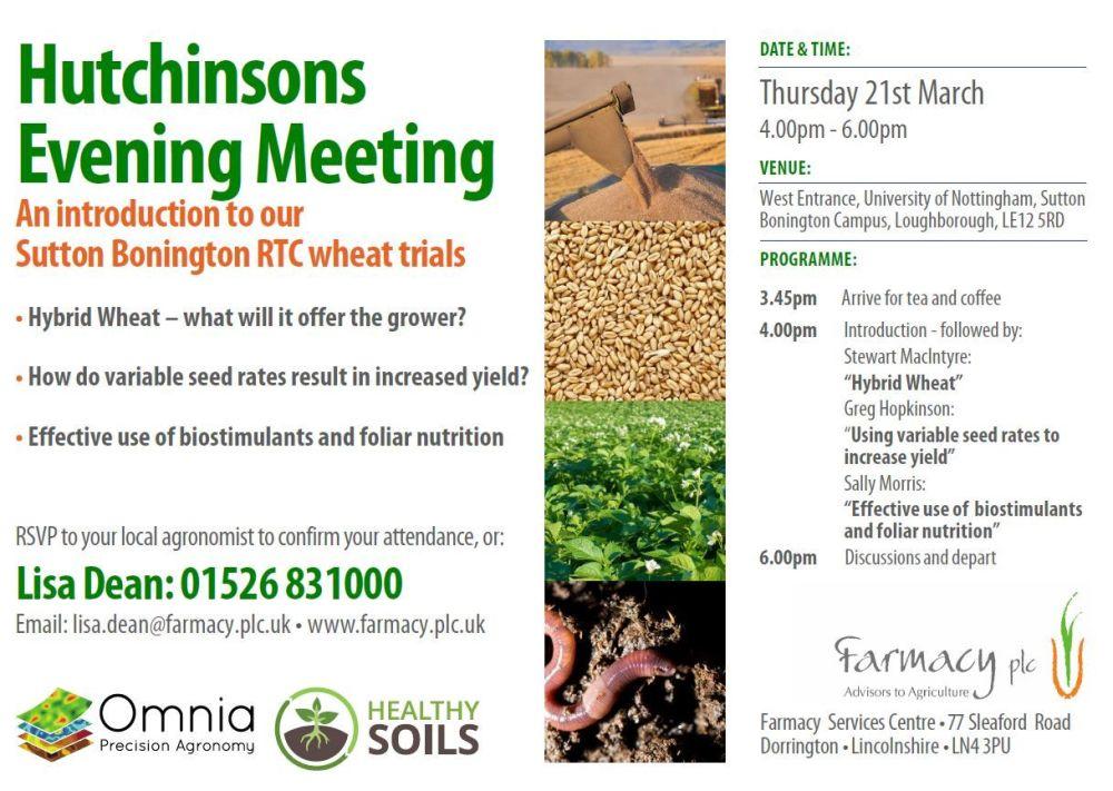 Sutton Bonington RTC March Open Day Invitation Farmacy