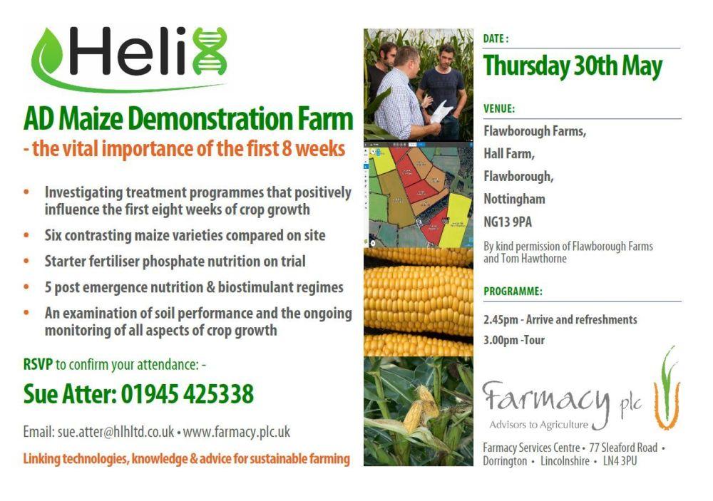 Helix Maize Day 30th May 2019 Flawborough - Farmacy