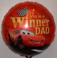 "You're a winner Dad - 18"" Foil Balloon"