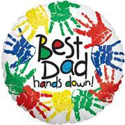 "Best Dad Hands Down 18"" Foil Balloon"