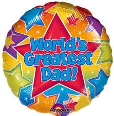 "World's Greatest Dad - 18"" Foil Balloon"