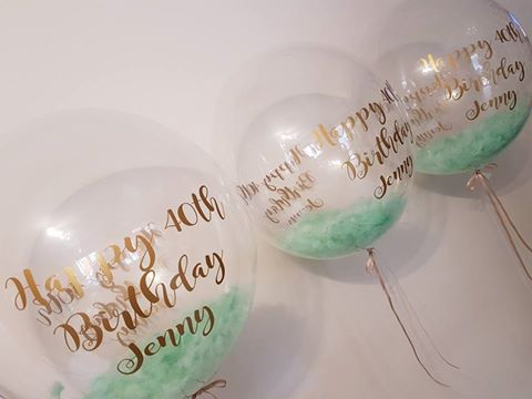 Bubble Feather Balloons
