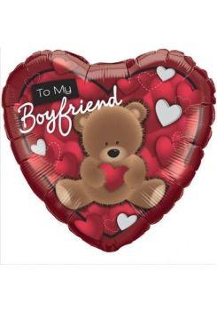 """To my Boyfriend - 18"""" Foil Heart Balloon"""