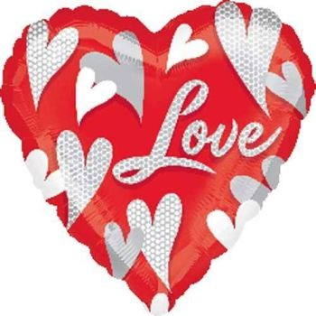 "Love - 18"" Foil Heart Balloon"
