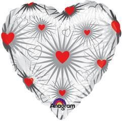 "Clear Love - 18"" Foil Heart Balloon"