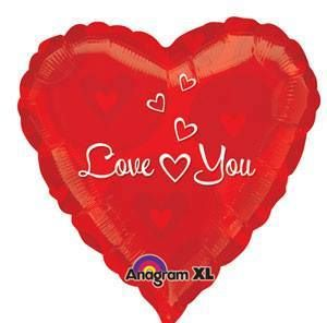 "Love You - 18"" Foil Heart Balloon"