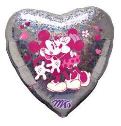 "Love Mikey and Minni - 18"" Foil Heart Balloon"