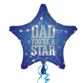 "Dad You're a Star - 18"" Star Balloon"