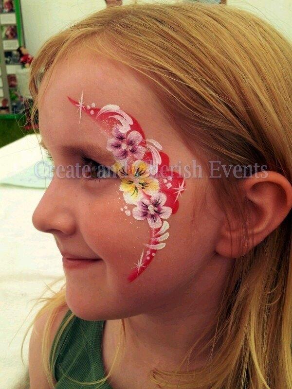 one stroke flower eye design glass