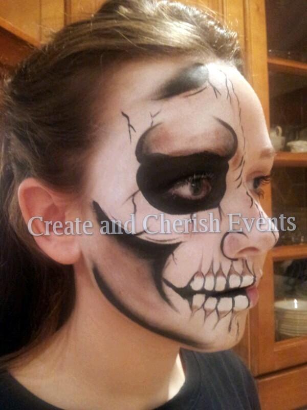 char skull face