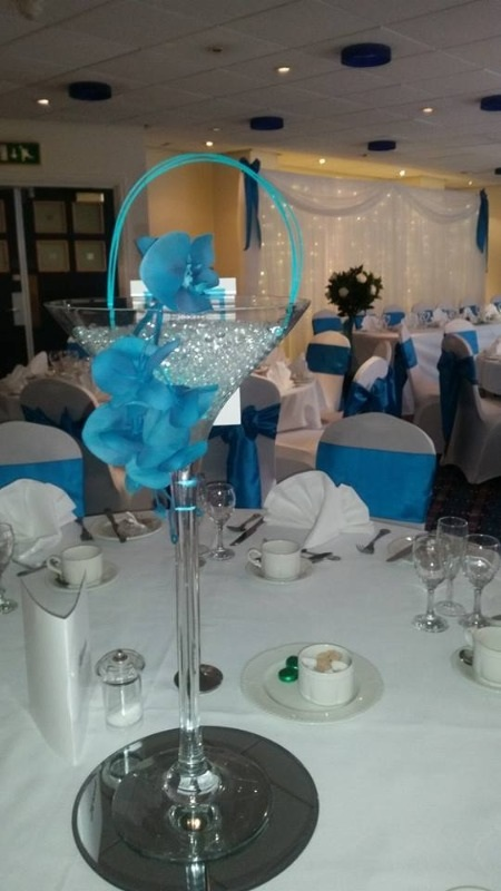 martini glass teal