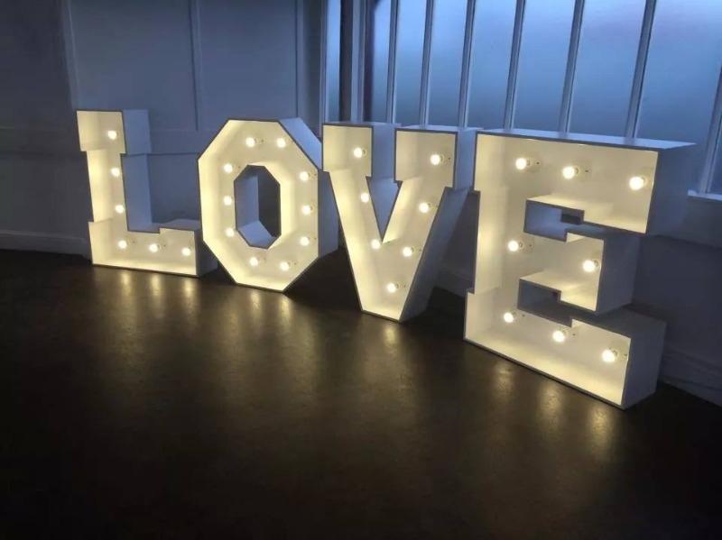 love, illuminated love letters, 4ft illuminated love letters
