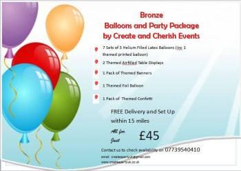 Bronze Balloon Package