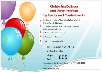 Christening/Party Balloon Package