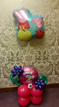 Supersize Happy Birthday Helium Balloon display