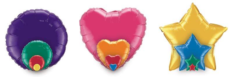 foil balloon sizes heart