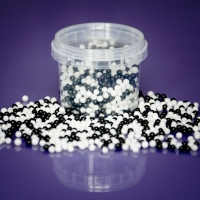 4mm Edible Balls - Black and White