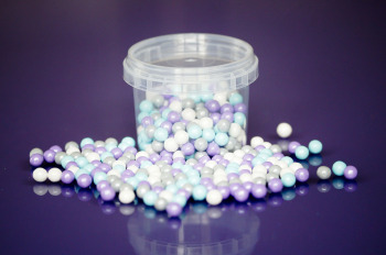Large Sugar Pearls 7mm - Frozen Mix