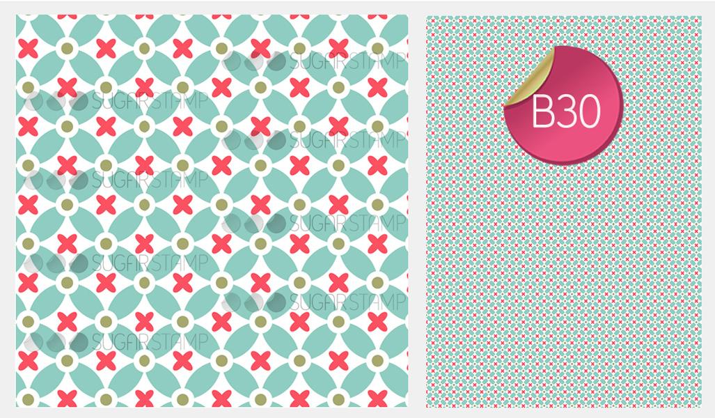 Sugar Stamp Sheet - Pattern Abstract
