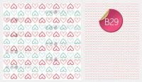 Sugar Stamp Sheet - Pattern Hearts Outline