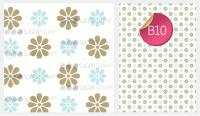 Sugar Stamp Sheet - Pattern Mocha & Duck Egg Images