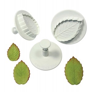 Veined Rose Leaf Set of 3 (Extra large Set