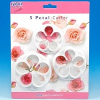 5 Petal Cutter for Roses, Poppies, Peonies & Blossom (Large)