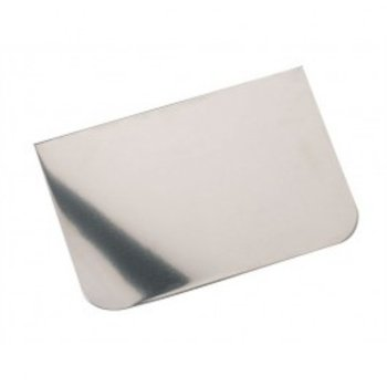 "Side Scraper Plain Edge (5"" x 3.5"") Stainless Steel"