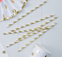 Paper Straws - Metallic Gold