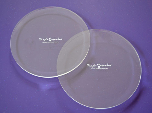 Acrylic Ganache Plates ROUND (Set of 2) & Ganache Plates for Cakes with Super Sharp Edges