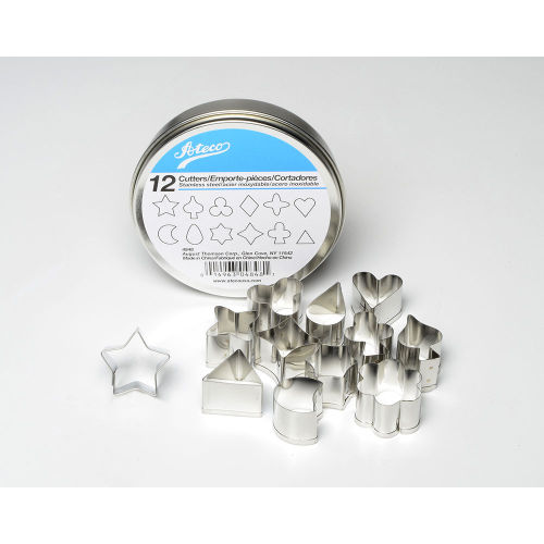 Stainless Steel Cutter Set x 12 Shapes
