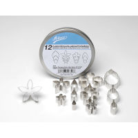 Stainless Steel Cutter Set x 12 Flowers & Leaves