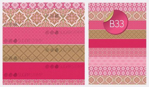 PRE-ORDER Sugar Stamp Sheet - B33