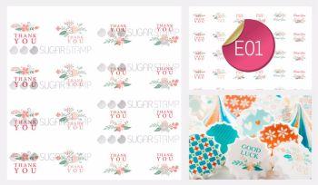 Sugar Stamp Sheet - E01