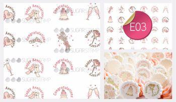 Sugar Stamp Sheet - E03