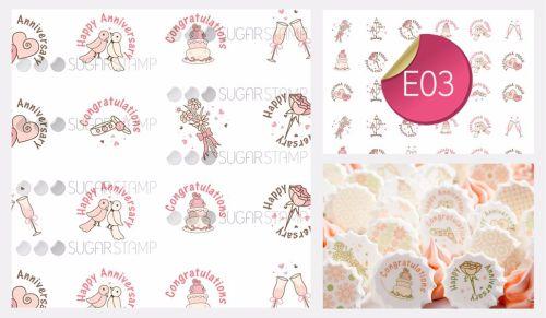 PRE-ORDER Sugar Stamp Sheet - E03