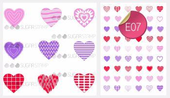 Sugar Stamp Sheet - E07