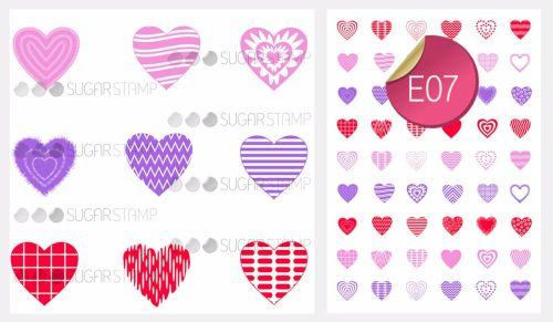 PRE-ORDER Sugar Stamp Sheet - E07