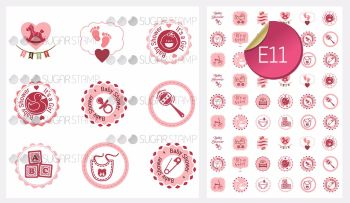 Sugar Stamp Sheet - E11