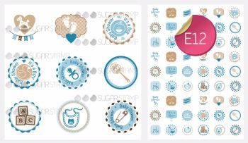Sugar Stamp Sheet - E12